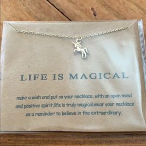 """Unicorn """"Life is magical""""  necklace"""